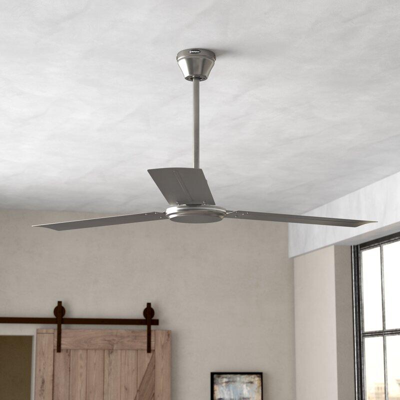 zipcode design 56 emil 3 blade industrial ceiling fan. Black Bedroom Furniture Sets. Home Design Ideas