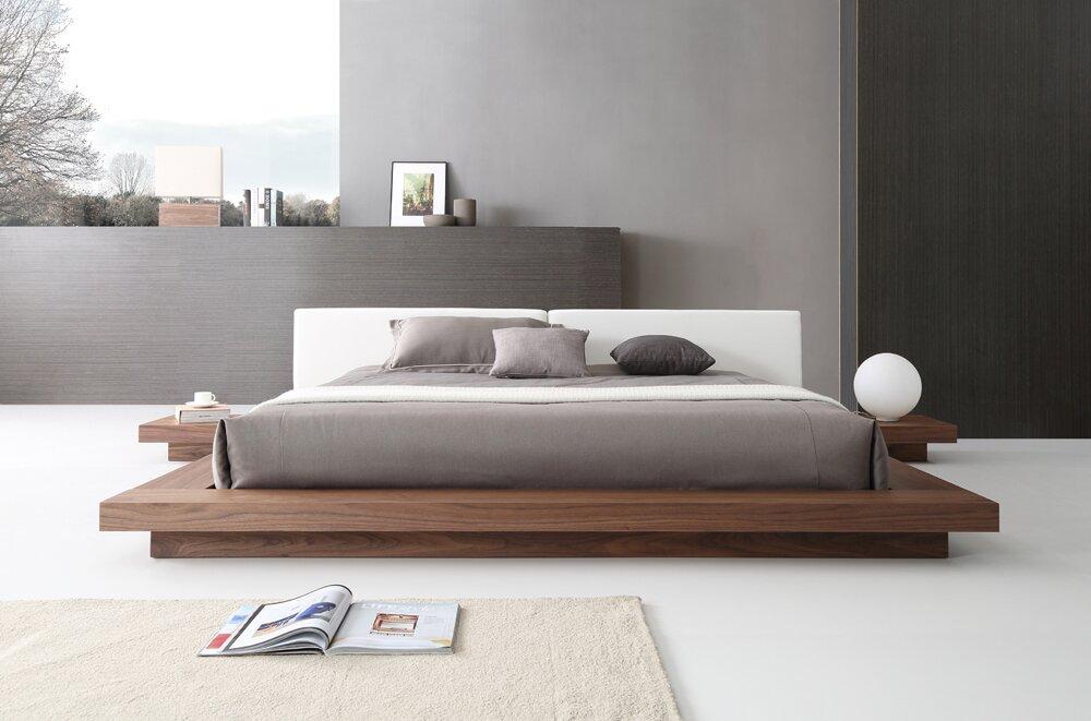 Carter Upholstered Platform Bed Amp Reviews Allmodern
