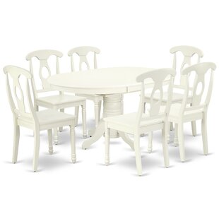 Labombard 7 Piece Extendable Solid Wood Dining Set
