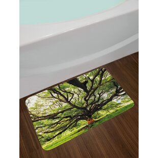 Nature The Largest Monkey Pod Tree In Thailand Bath Rug