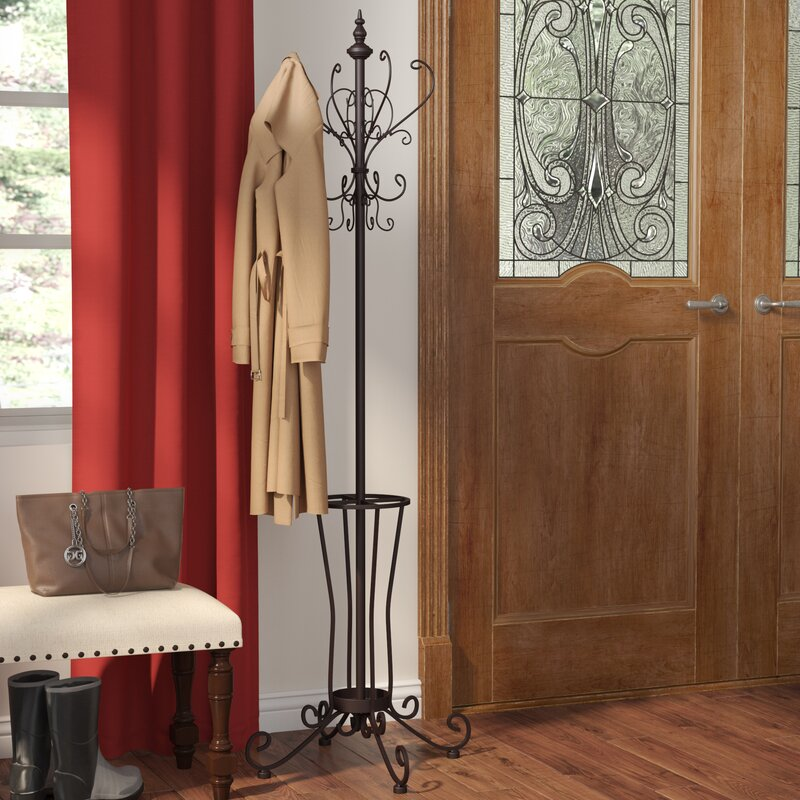 Laflamme Coat RackHall Tree Coat Rack Reviews Birch Lane Mesmerizing Hall Tree Coat Rack