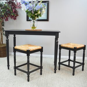 Emilia 3 Piece Counter Height Pub Table Set