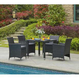 Mcnew 5 Piece Outdoor Dining Set With Cushion