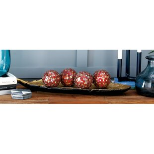 Mccary Pvc Gl Mosaic Orb Decorative Ball Set Of 4