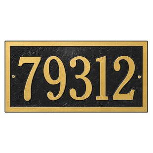 4b92152d24b Bismark 1-Line Wall Address Plaque. by Whitehall Products