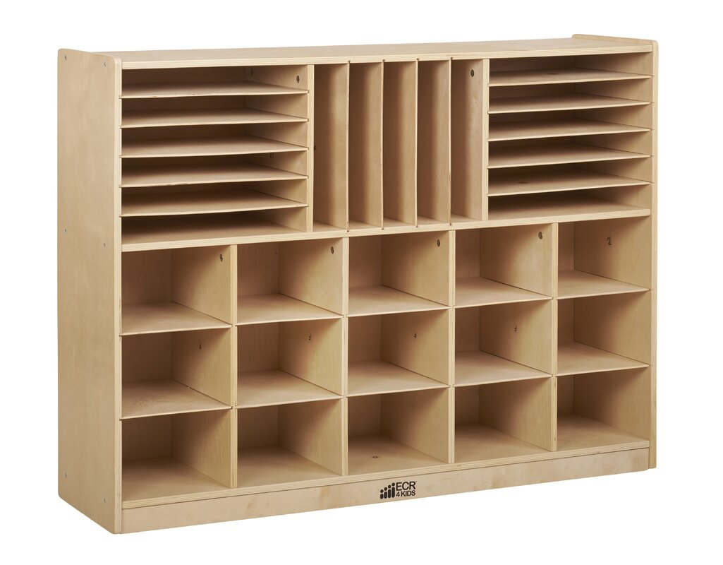 ECR4Kids Multi Section Storage Cabinet 32 Compartment Cubby ...
