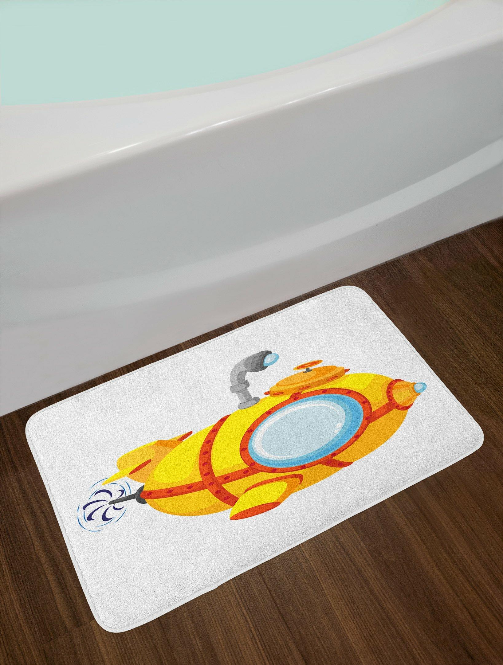 Ilration Pale Yellow Bath Rug