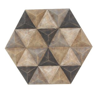Faceted Hexagonal Wall Decor