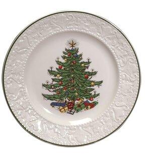Original Christmas Tree 11.25  Dickens Embossed Round Dinner Plate  sc 1 st  Wayfair & Christmas Paper Plates | Wayfair
