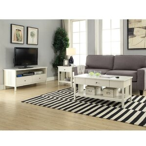 Bechtel Mission Style Wood 2 Piece Coffee Table Set