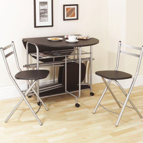 Of Set Chairs 4 Brownfoldingdining: Andover Mills Prower Folding Dining Set With 4 Chairs