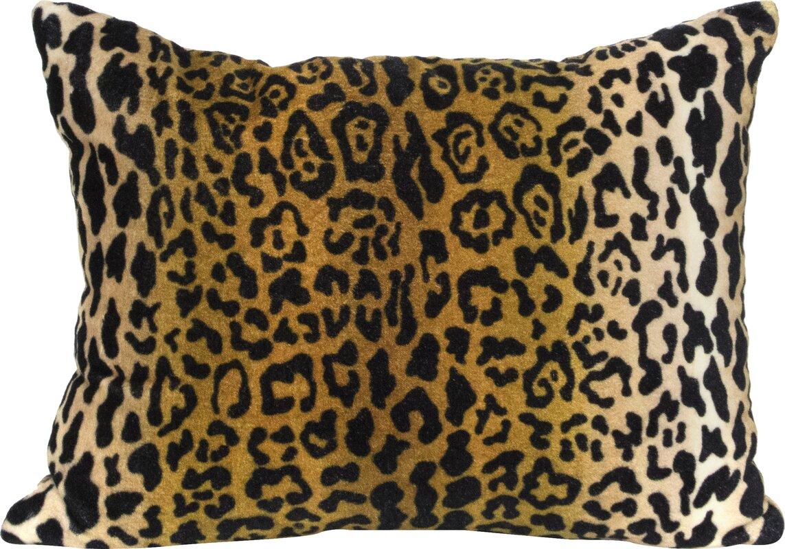 Elements by Erin Gates Leopard Velvet Lumbar Pillow
