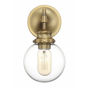 globe wall sconce brushed gold wall quickview modern contemporary retro glass globe wall sconce allmodern