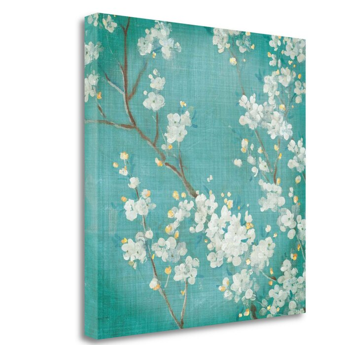 bloomsbury market white cherry blossoms ii acrylic painting print