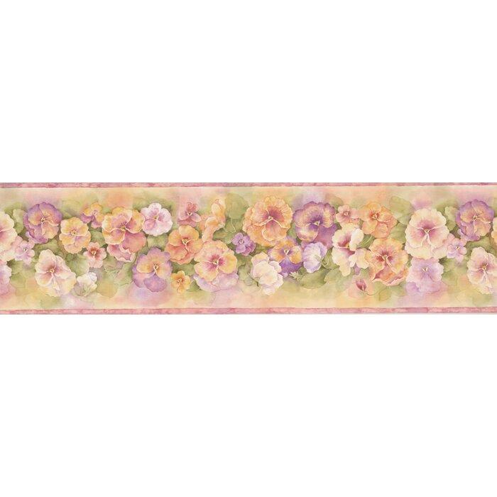 Pretty Floral Flowers 15 X 6 25 Wallpaper Border