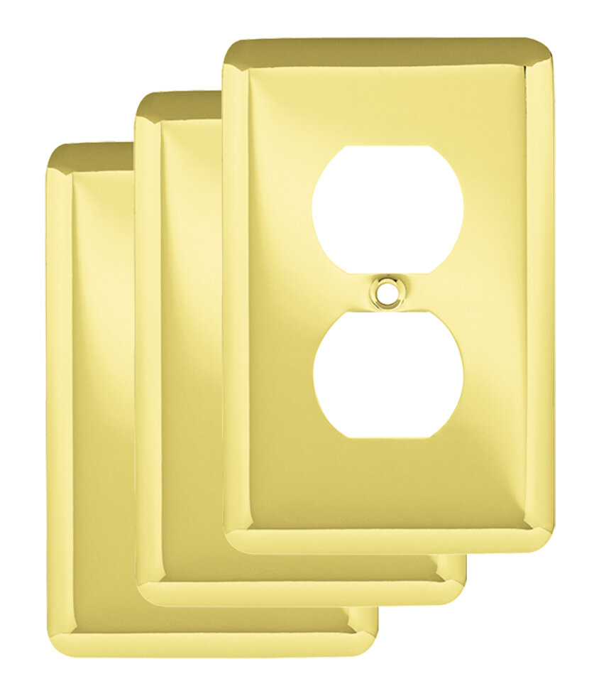 Franklin Brass Stamped Round 1 Gang Duplex Wall Plate & Reviews ...