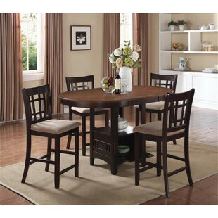 Renshaw 5 Piece Counter Height Dining Set