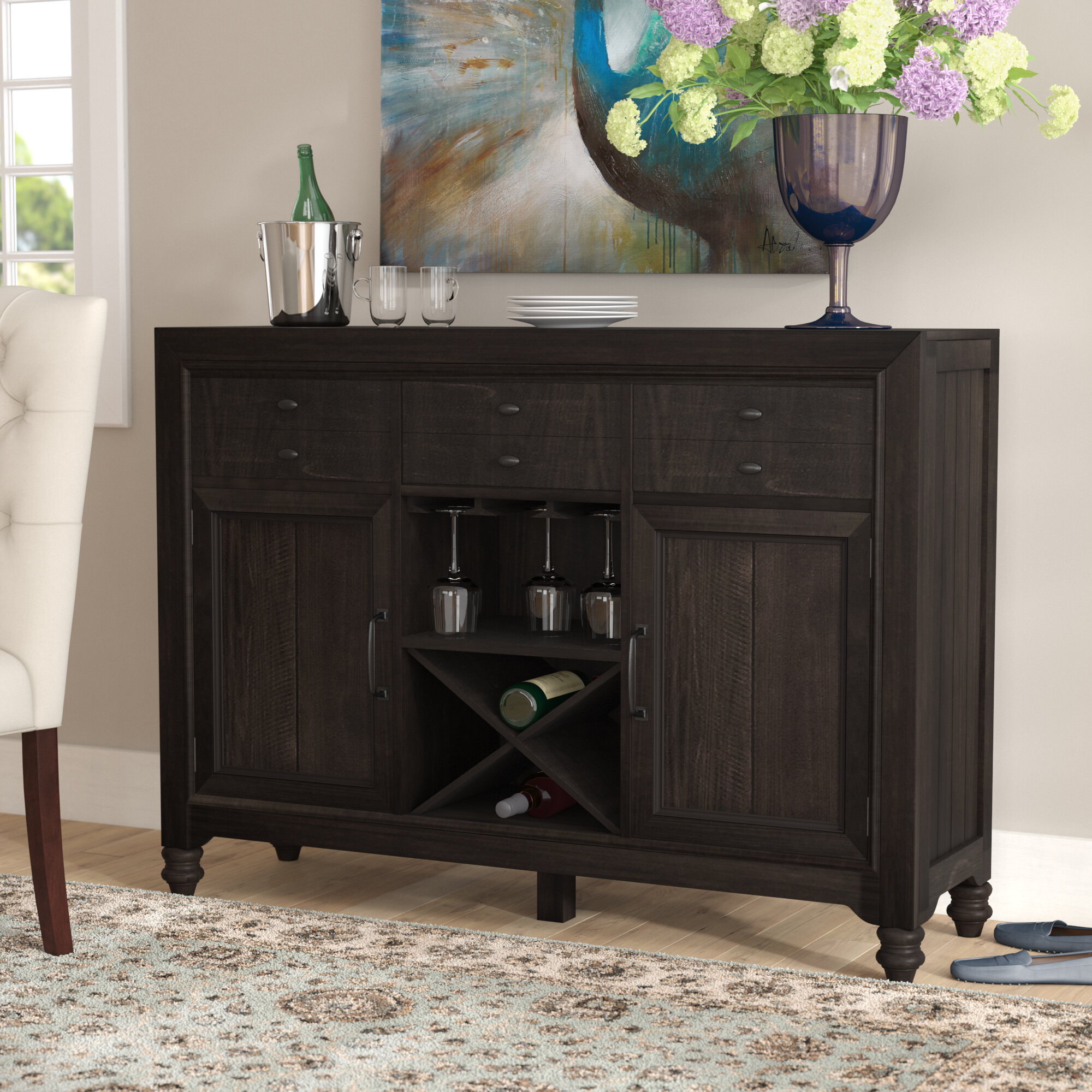 table console inflow king and global sideboard inflowcomponent content technicalissues p kings brand with cherry s wood drawers storage res