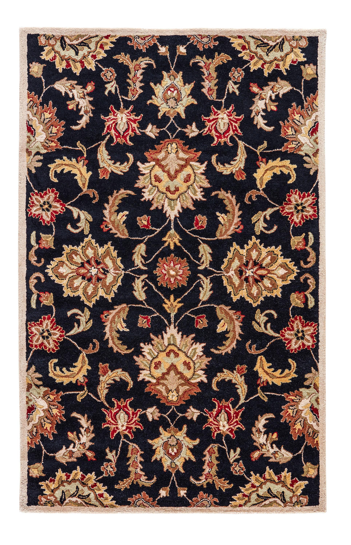Birch Lane Thornhill Hand Tufted Wool Black Tan Area Rug Reviews