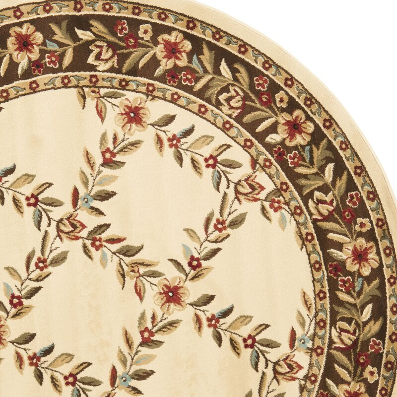 Checked Area Rugs: Astoria Grand Taufner Ivory/Brown Checked Area Rug