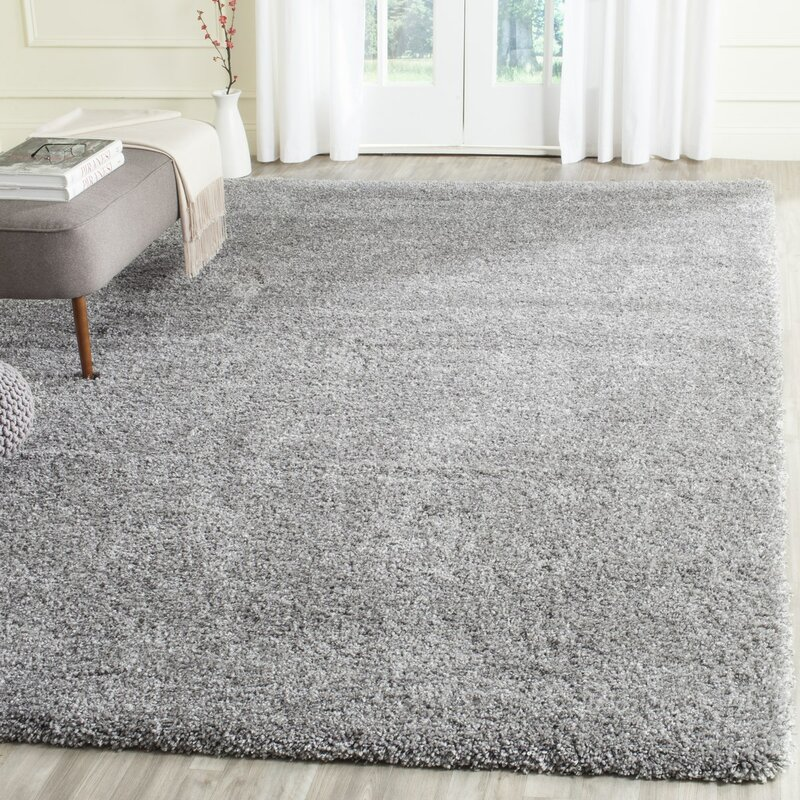 Wade Logan Jonathan Shag Silver Area Rug Amp Reviews Wayfair