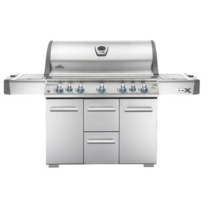 Lex Cart 7-Burner Gas Grill with Cabinet