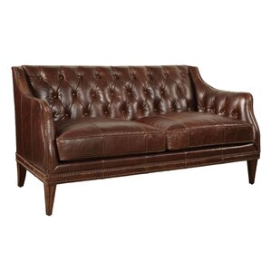 Rhonda Leather Settee by Trent Austin Design
