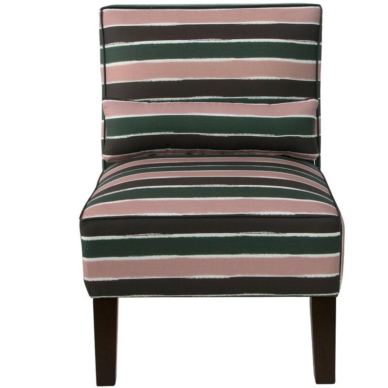 Wampler Linen Upholstered Slipper Chair
