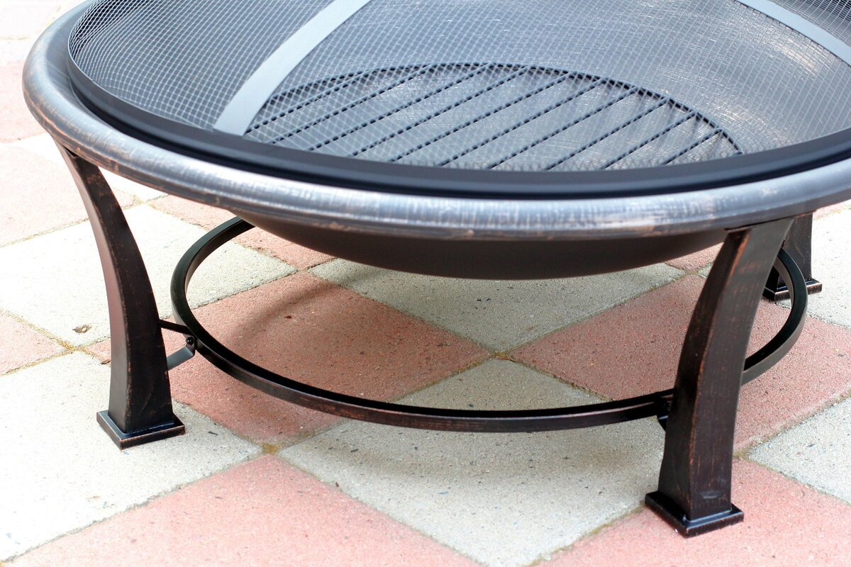 Jeco Inc. Golden Steel Wood Burning Fire Pit & Reviews