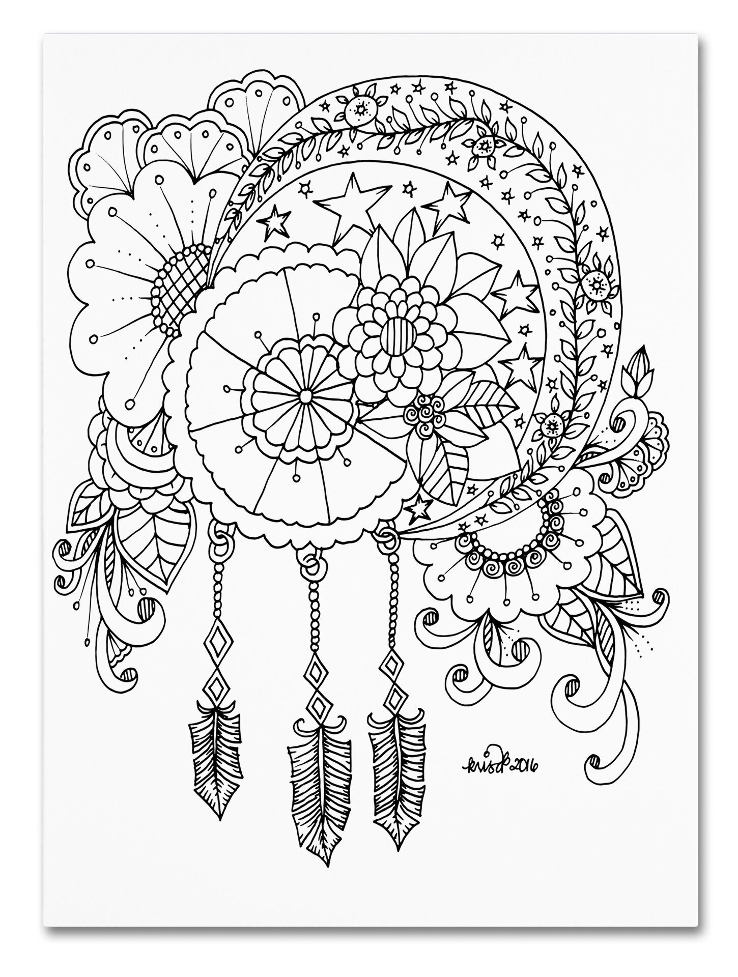 trademark art crescent moon by kcdoodleart graphic art on wrapped 1970 House Decorating trademark art crescent moon by kcdoodleart graphic art on wrapped canvas wayfair