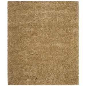 Rosa Shag Hand-Tufted Brown Area Rug