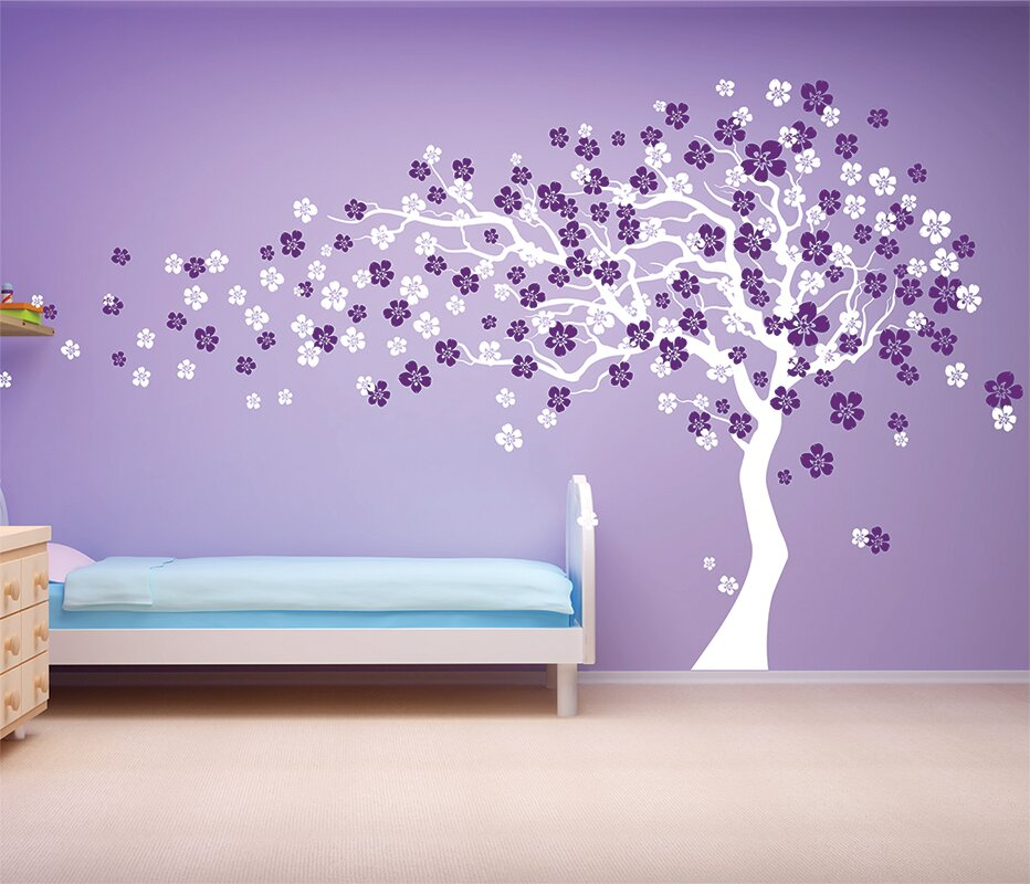 Exceptionnel Cherry Blossom Tree Wall Decal