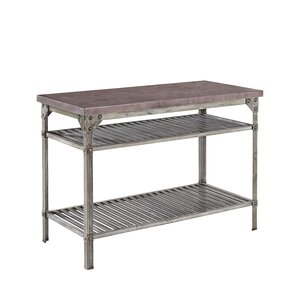 Urban Style Prep Table with Concrete T..