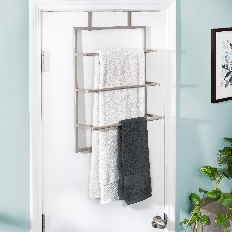 3 Tier Over The Door Steel Bathroom Free Standing Towel Rack
