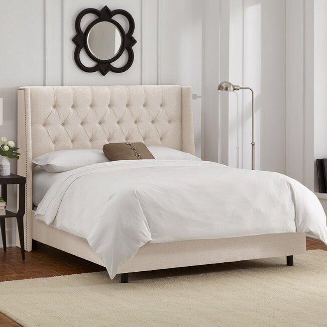 Raleigh Tufted Linen Upholstered Platform Bed