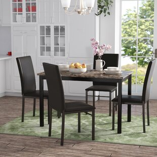 Faux Marble Dining Table Set Wayfair
