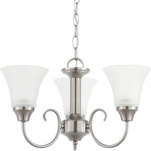 Buren 3-Light Shaded Chandelier