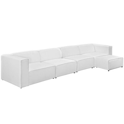 Brayden Studio Chaudhry Sectional Upholstery: White