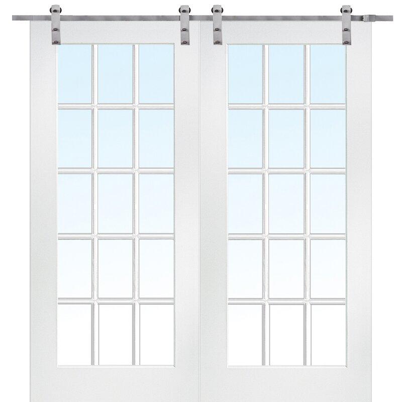 Verona Home Design MDF Primed Interior Barn Door & Reviews