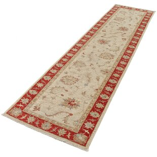 Callao Hand Knotted Wool Beige Rug by Rosalind Wheeler