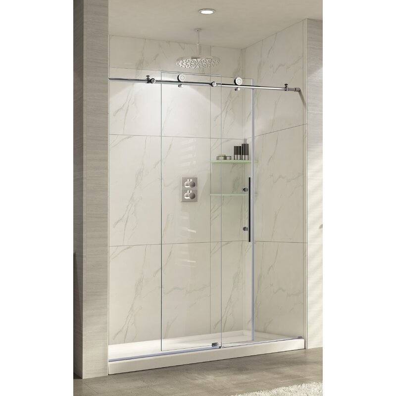 Trident Lux 60'' x 76'' Single Sliding Shower Door