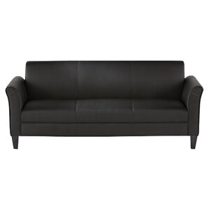 Corrigan Leather Sofa by Mercury Row