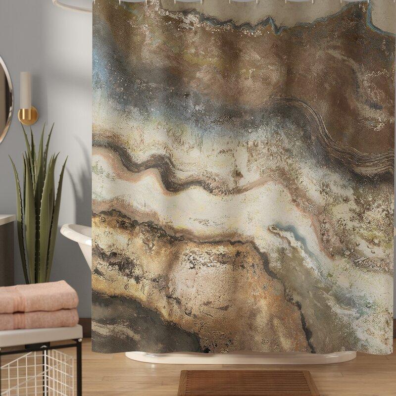 Latitude Run Caneadea Lava Flow Single Shower Curtain