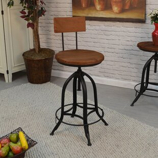 Nevada Adjustable Height Swivel Bar Stool
