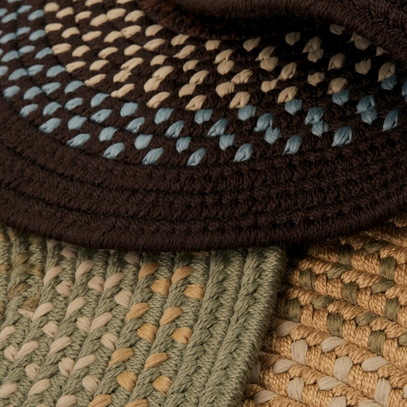 Alcott Hill Knudtson Brown Indoor/Outdoor Area Rug, Size: Rectangle 2 x 6