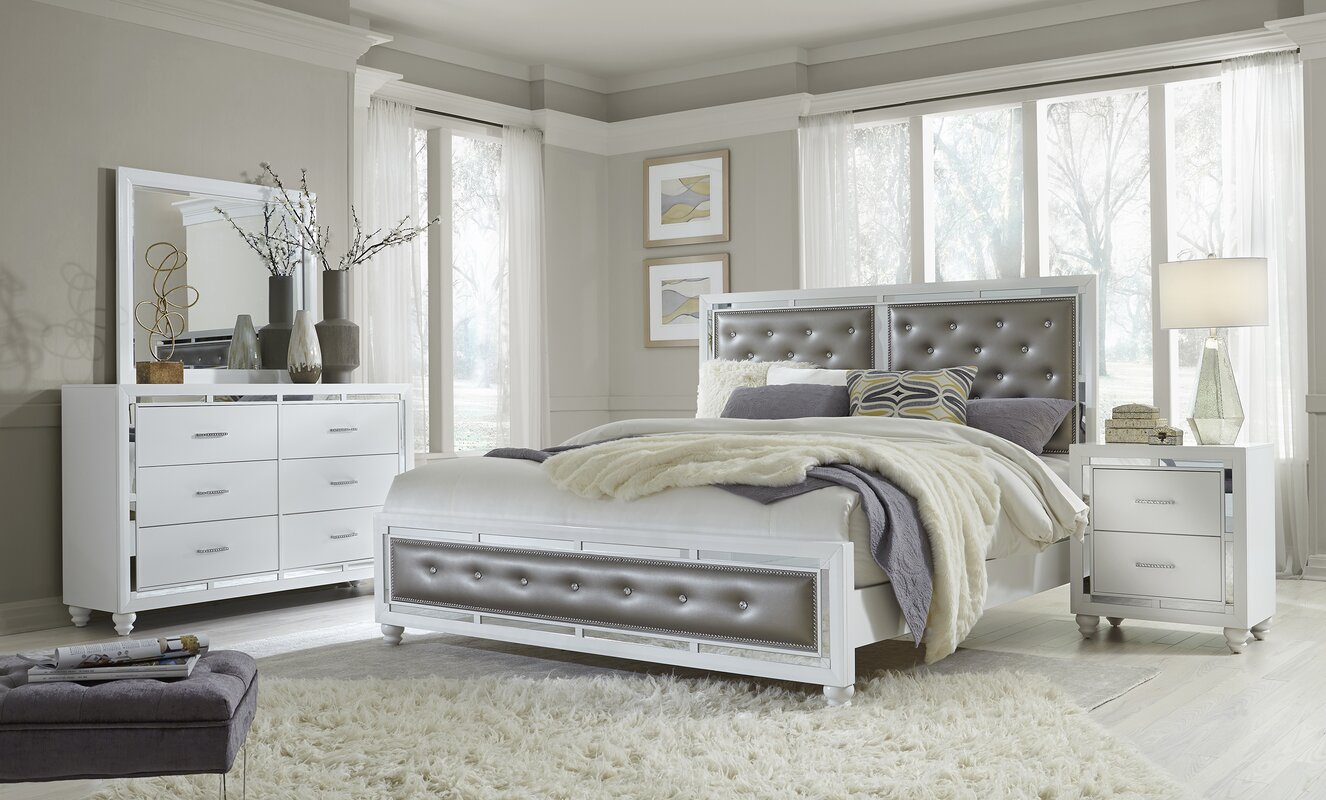 Rosdorf Park Rhona Upholstered Panel Configurable Bedroom Set ...