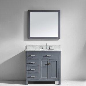 Savitsky 35″ Single Bathroom Vanity Set with Mirror