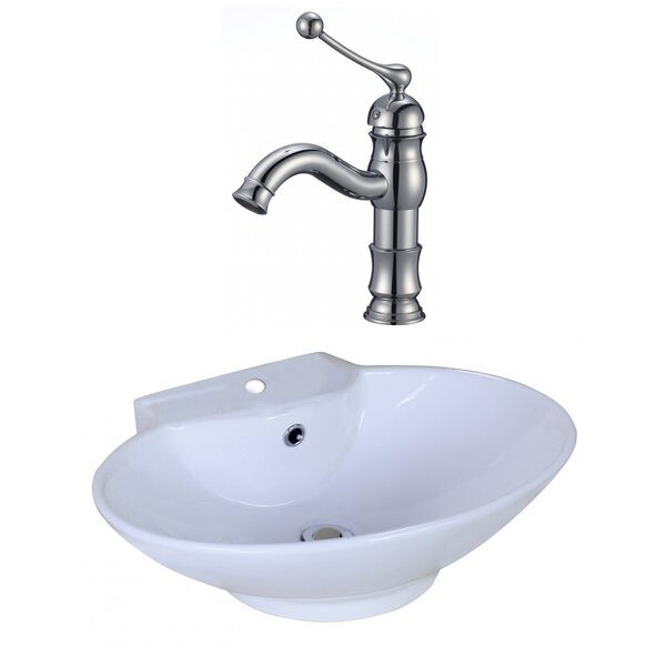 Oval Vessel Bathroom Sink with Overflow by American
