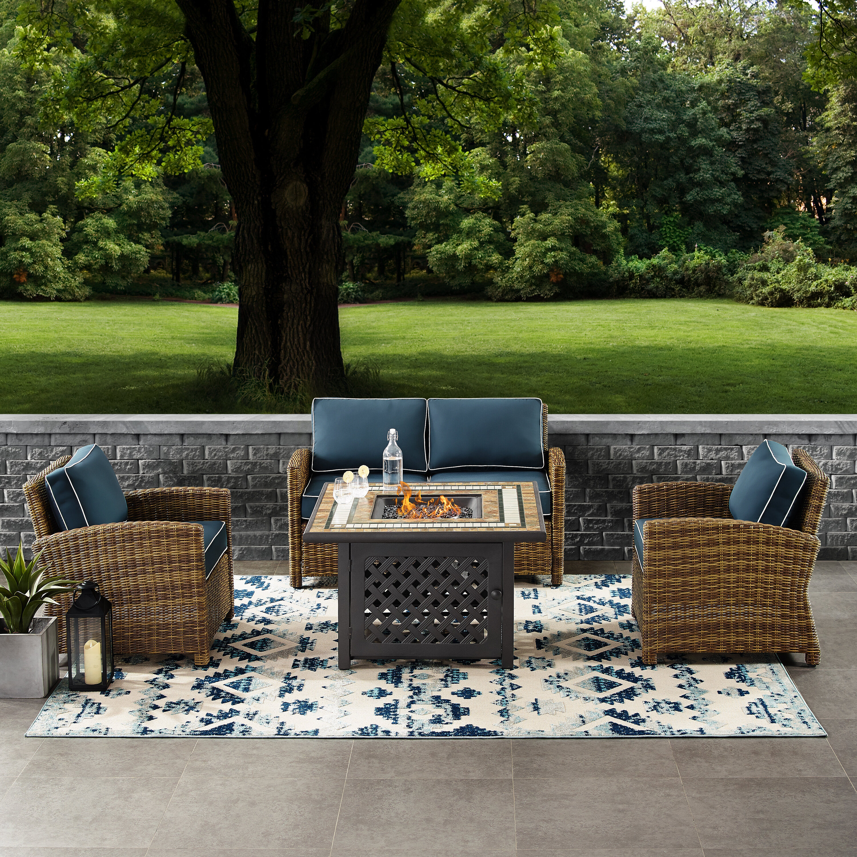 Lawson Wicker Coffee Table: Birch Lane™ Heritage Lawson 4 Piece Outdoor Wicker Seating