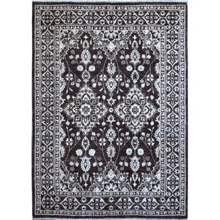 Price comparison One-of-a-Kind Hand-Knotted Wool Black/White Area Rug By Wildon Home ®